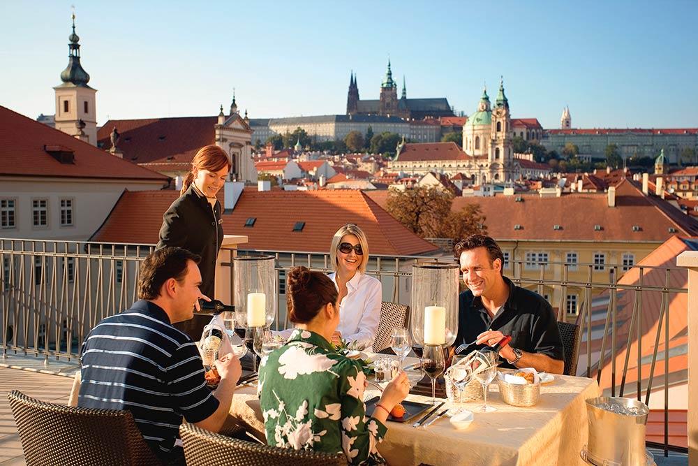 Praga - Hotel Mandarin Oriental - Terrazza Suite Presidenziale
